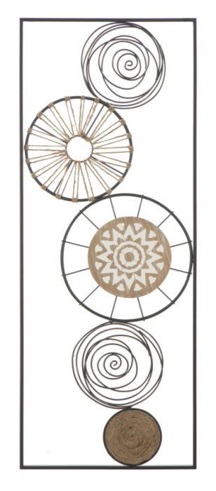Decoratiune pentru perete MASAI, 35X2X90 cm, Mauro Ferretti 0