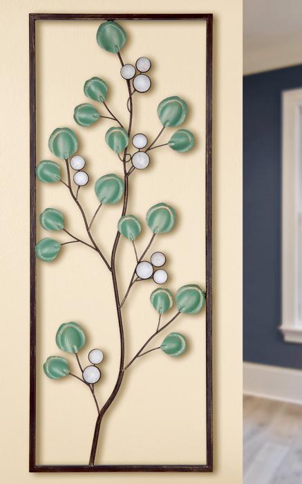 Decoratiune de perete TWIG, metal, 76x3x30.5 cm 0