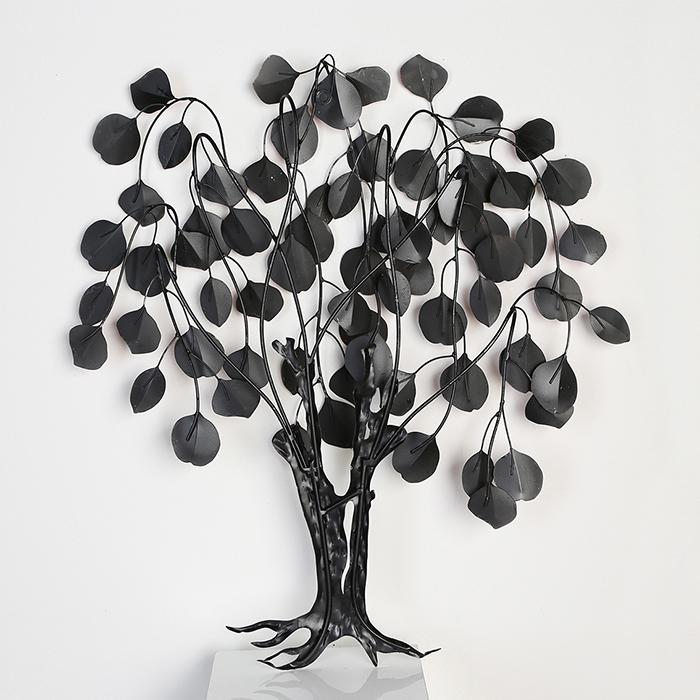 Decoratiune de perete LOVE TREE, metal,  80x10x72 cm 3