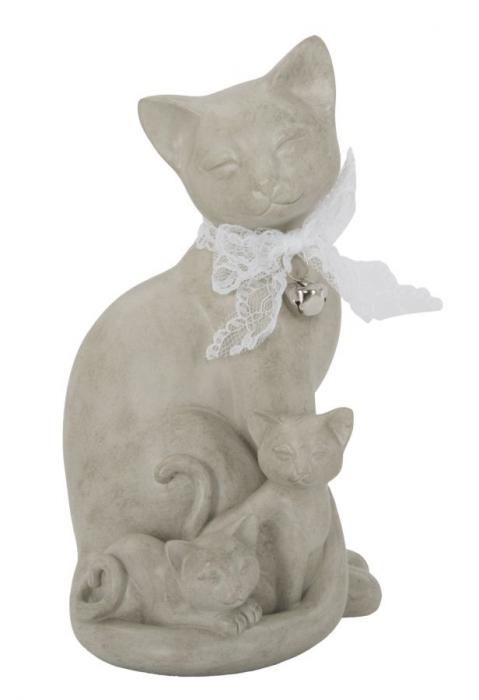 Decoratiune pisica CAT FAMILY(cm) 12,5X11,5X20,5 0