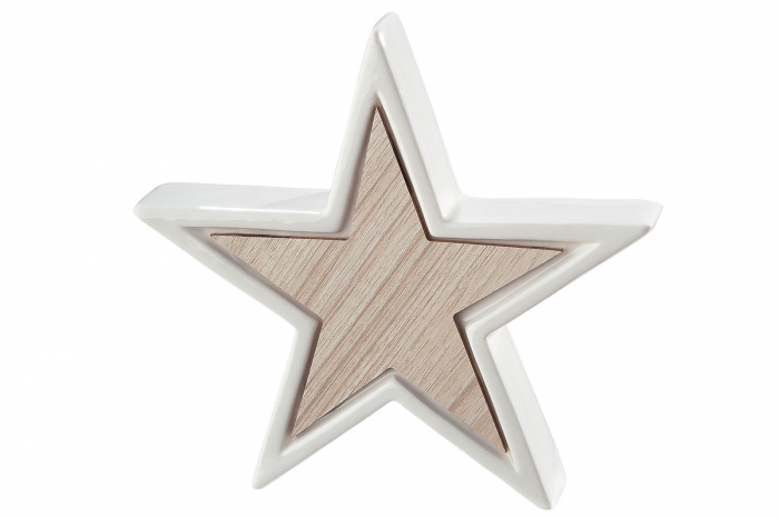 Decoratiune STAR, portelan, 12x2.5x11.5 cm imagine 2021 lotusland.ro