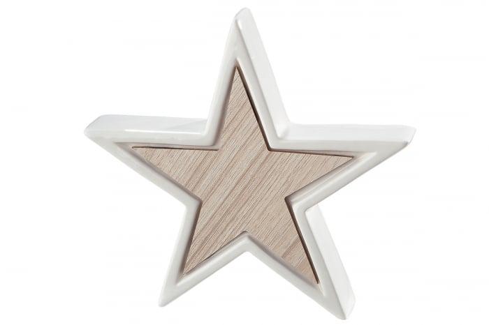 Decoratiune STAR, portelan, 16.5x3x16 cm imagine 2021 lotusland.ro