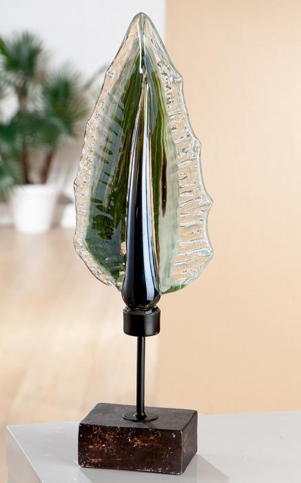 Decoratiune LEAF FLORENZ, sticla, 54x17x13 cm lotusland.ro