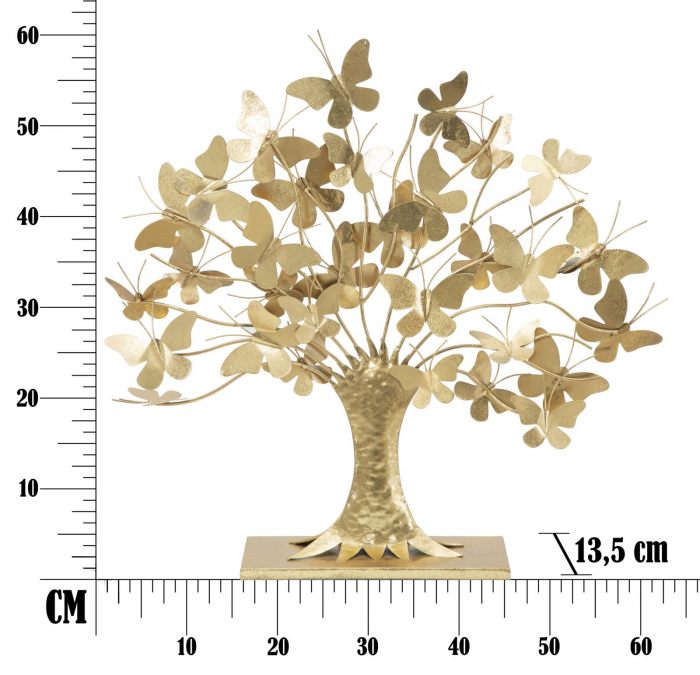 Decoratiune TREE OF LIFE W/BUTTERFLY GLAM 63X13,5X60 7