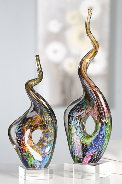Decoratiune TWIST, sticla, 35x14x8 cm 2