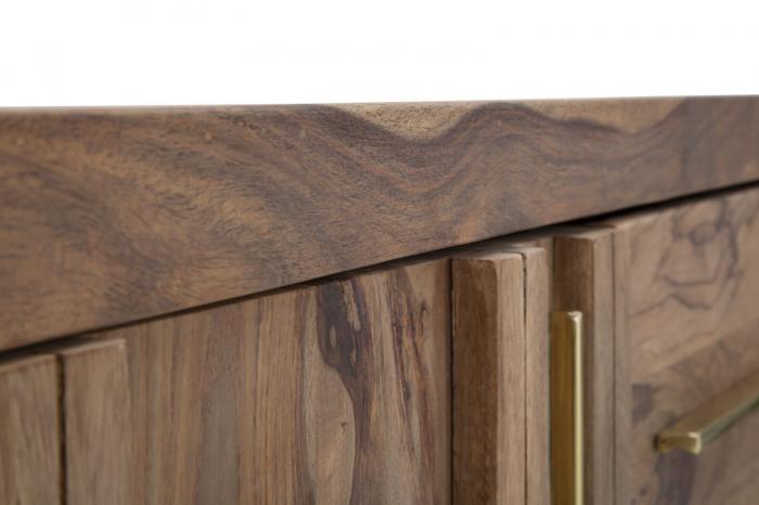Dulap 2 usi si 3 sertare ELEGANT, lemn masiv sheesham, 175X45X80 cm, Mauro Ferretti 7