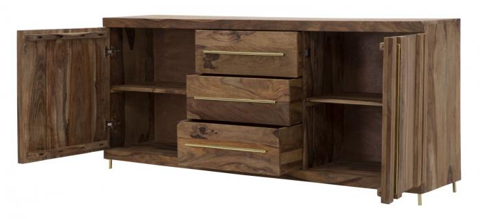 Dulap 2 usi si 3 sertare ELEGANT, lemn masiv sheesham, 175X45X80 cm, Mauro Ferretti 5