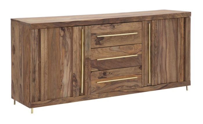 Dulap 2 usi si 3 sertare ELEGANT, lemn masiv sheesham, 175X45X80 cm, Mauro Ferretti 0