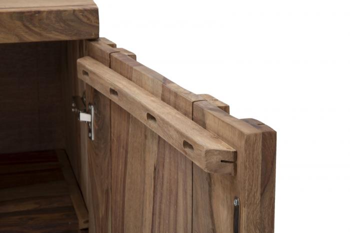 Dulap 2 usi si 3 sertare ELEGANT, lemn masiv sheesham, 175X45X80 cm, Mauro Ferretti 6