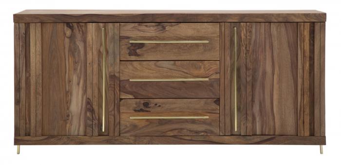 Dulap 2 usi si 3 sertare ELEGANT, lemn masiv sheesham, 175X45X80 cm, Mauro Ferretti 1