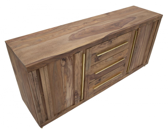 Dulap 2 usi si 3 sertare ELEGANT, lemn masiv sheesham, 175X45X80 cm, Mauro Ferretti 9