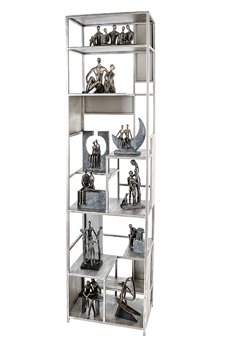 Dulap cu rafturi LEVEL, metal, 200x50x35 cm 0