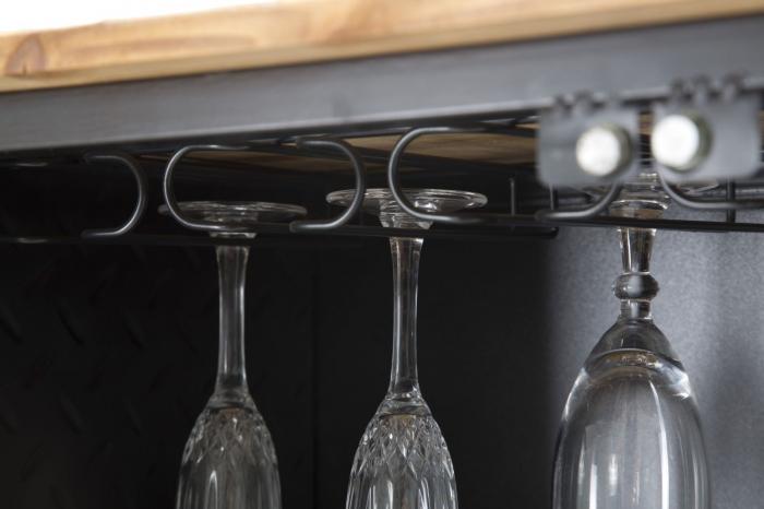 Dulap cu suport de sticle de vin IRON SCHOOL  (cm) 81X42X162,5 6