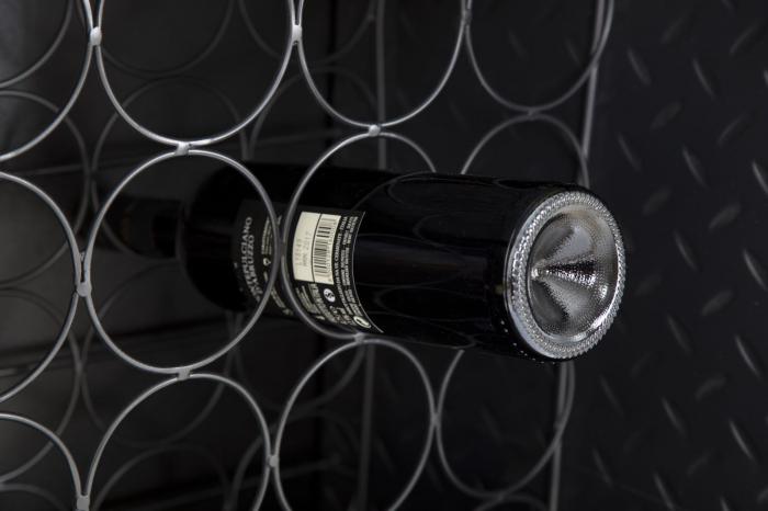 Dulap cu suport de sticle de vin IRON SCHOOL  (cm) 81X42X162,5 7