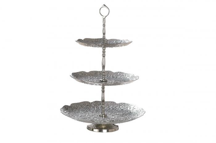 Etajera Doppio, aluminiu, argintiu, 49x32 cm lotusland.ro