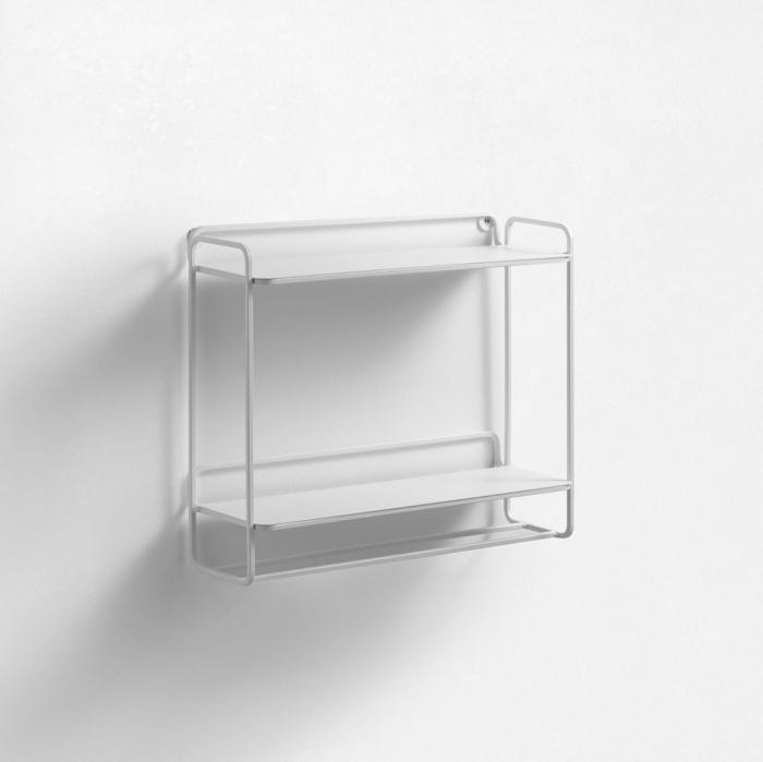 Etajera suspendata LOTO, Metal, Alb, 36x11.5x30.6 cm imagine 2021 lotusland.ro