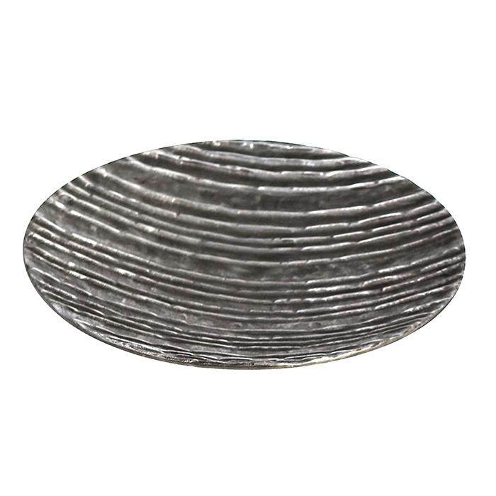 Farfurie lumanare/deco VULCANO, aluminiu, 39x7 cm 1