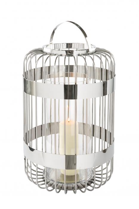 Felinar CAMERON, inox/sticla, 60x38 cm, Fink 0