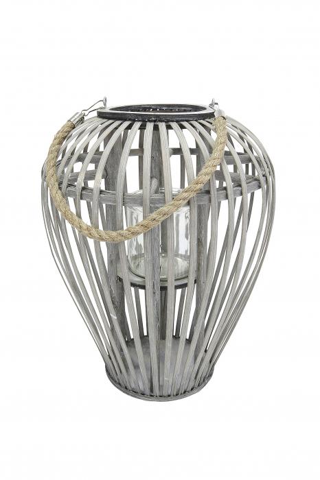 Felinar GILDE, lemn/sticla, 26x24 cm 0