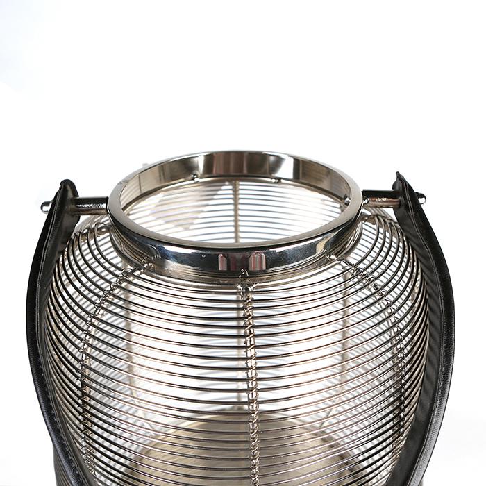 Felinar CAGE, otel inoxidabil/sticla, 27x23 cm 3