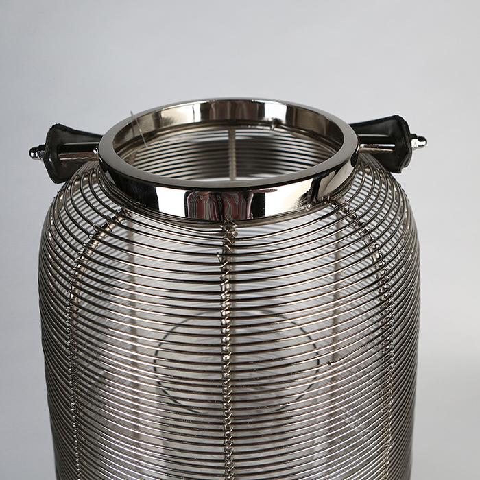 Felinar CAGE, otel inoxidabil/sticla, 44x26 cm 3