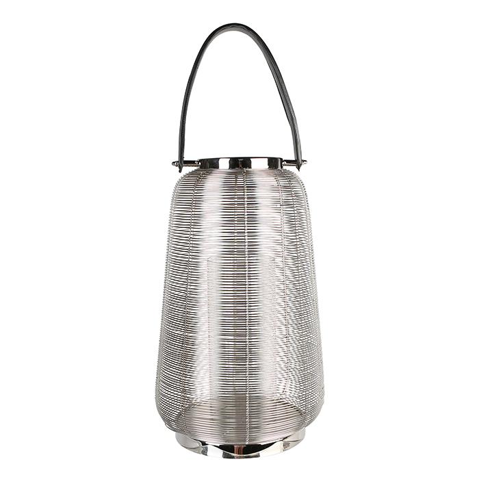 Felinar CAGE, otel inoxidabil/sticla, 44x26 cm 0
