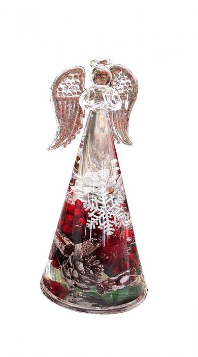 Figurina ANGEL noel, sticla, 15.5x7.5 cm imagine 2021 lotusland.ro