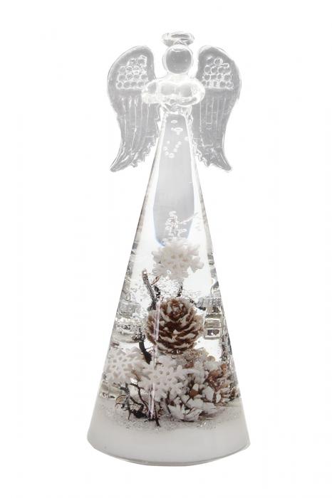 Figurina ANGEL winter, sticla, 20 x 8 cm 2021 lotusland.ro