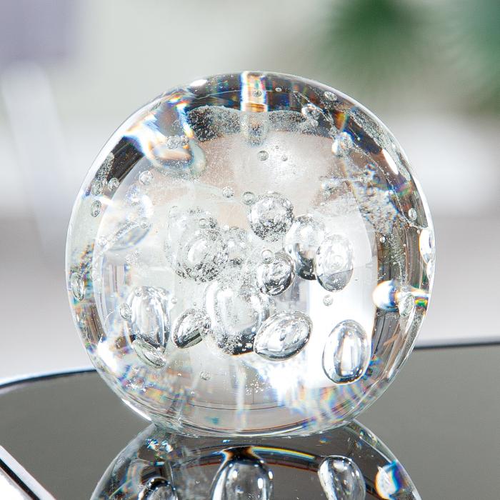 Figurina Ball, sticla, transparent, 7.5x8 cm lotusland.ro