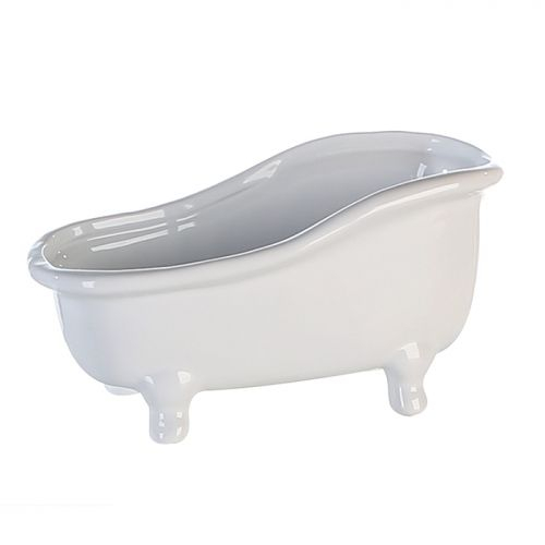 Figurina bathtub, ceramica, alb, 25x14 cm 2021 lotusland.ro