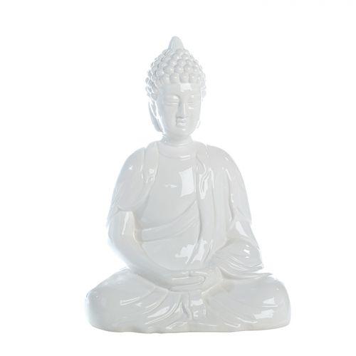 Figurina buddha Spirit, ceramica, alb, 18x26x35 cm imagine 2021 lotusland.ro