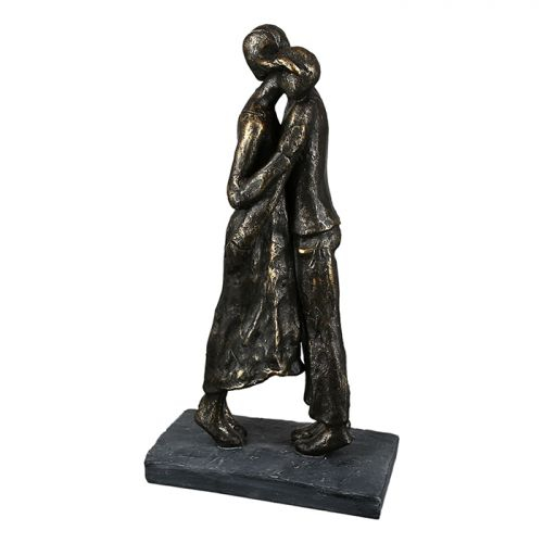 Figurina Closeness, rasina, bronz gri, 8x13x25 cm lotusland.ro
