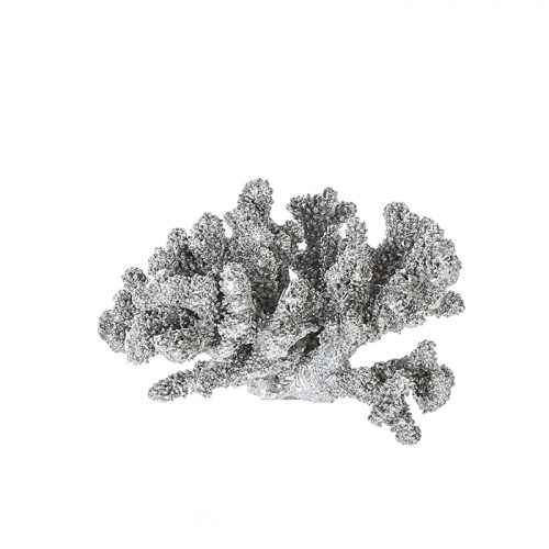 Figurina coral Blair, rasina, argintiu, 20x20x12 cm 2021 lotusland.ro