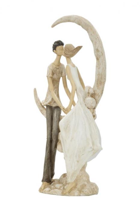 Figurina COUPLE MORE ON THE MOON (cm) 20X10X33,5 1