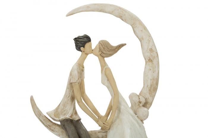 Figurina COUPLE MORE ON THE MOON (cm) 20X10X33,5 3