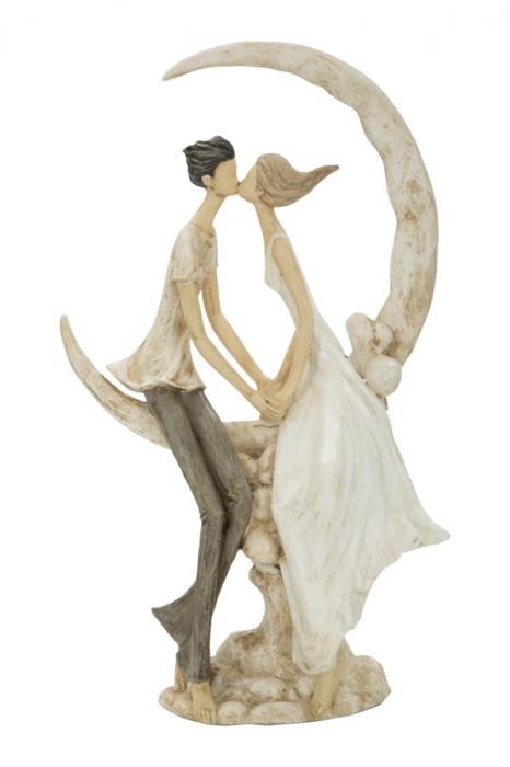 Figurina COUPLE MORE ON THE MOON (cm) 20X10X33,5 2021 lotusland.ro