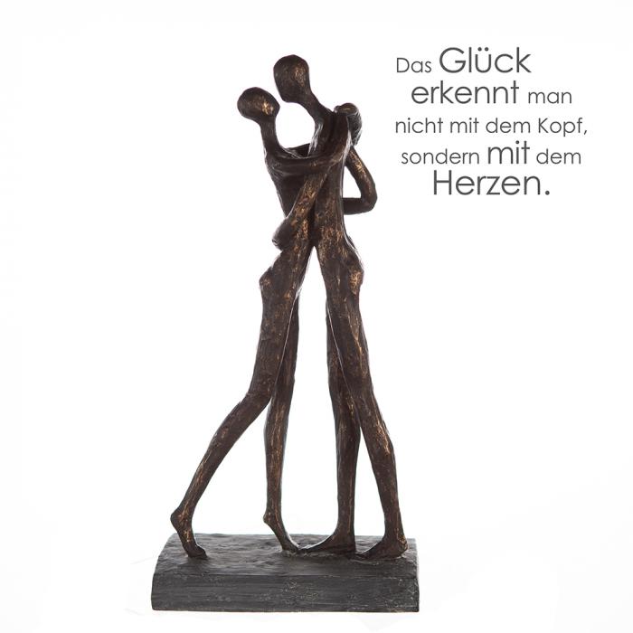 Figurina Cuddle rasina, bronz, 32x15x8 cm imagine 2021 lotusland.ro