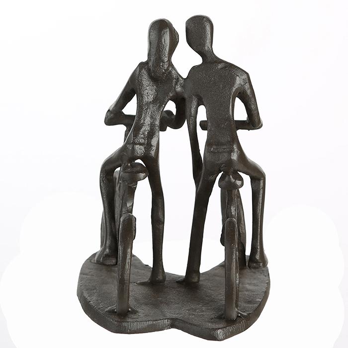 Figurina CYCLING, metal, 13x13X10 cm 4