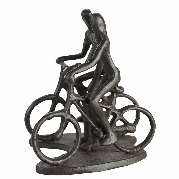 Figurina CYCLING, metal, 13x13X10 cm 1
