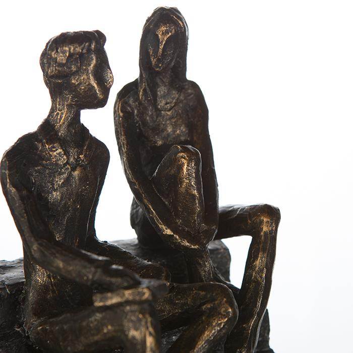 Figurina DISCUSSION, rasina, 17X13X12 cm 3
