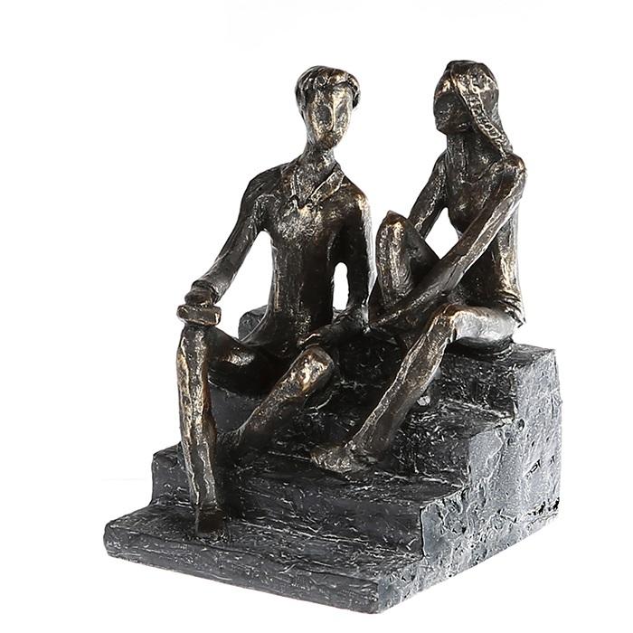 Figurina DISCUSSION, rasina, 17X13X12 cm 0