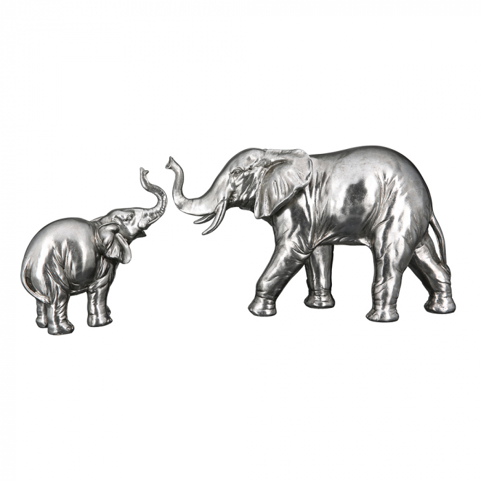 Figurina elefant Jumbo, rasina, argintiu, 39x23x13 cm 2021 lotusland.ro