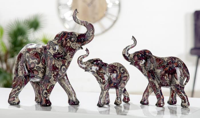 Figurina Elephant Sahel, rasina, multicolor, 17x18x7 cm 2021 lotusland.ro