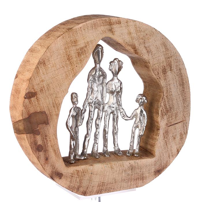 Figurina FAMILY, lemn/aluminiu, 28X30X7 cm 1