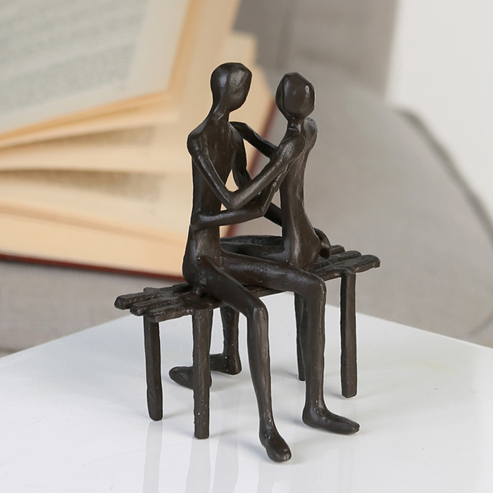 Figurina FAVOURITE PLACE, metal, 13x11X10 cm 2