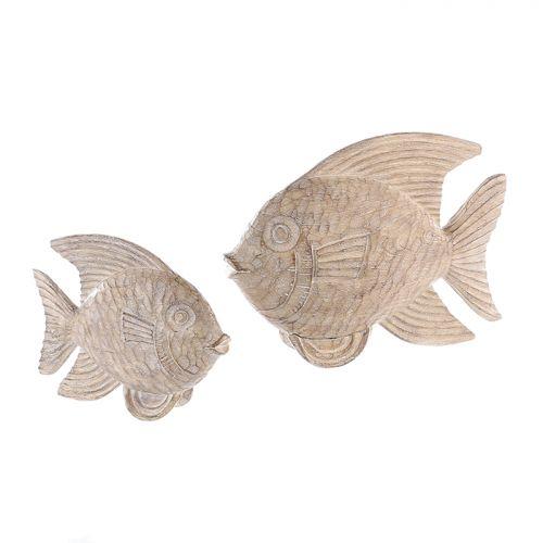 Figurina fish, rasina, maro crem, 9x34x25 cm lotusland.ro