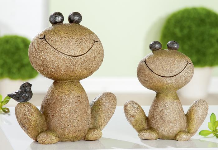Figurina Frog Rocco, rasina, maro, 12.5x14.8x4.5 cm imagine 2021 lotusland.ro