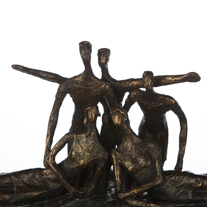 Figurina GROUP, rasina, 28X20X21 cm 1