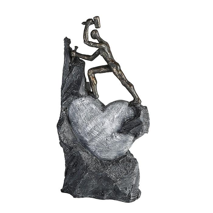 Figurina HEART, rasina, 37X19X9 cm 0