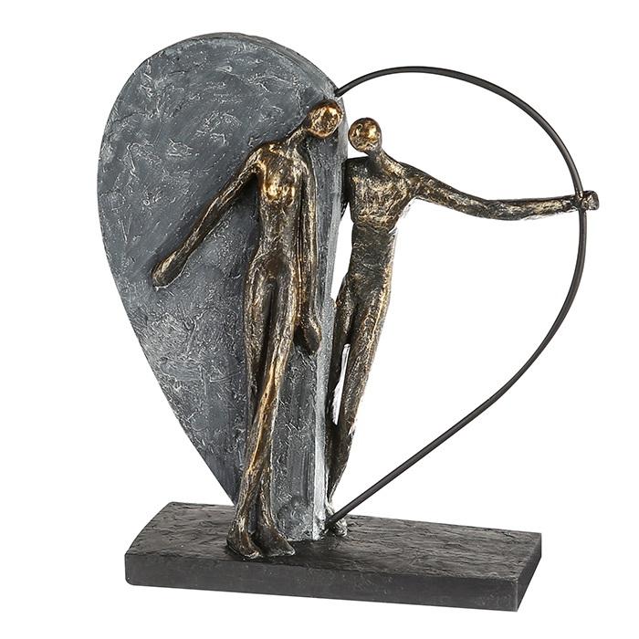 Figurina HEARTBEAT, rasina, 31X28X10 cm 0